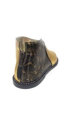 Nowość Włoskie sandałki  Gold Leopard 1520065LL