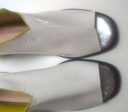 Sandały marki Tuffoni OffWhite /yellow 1520030LL  Gatunek 2