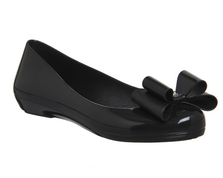 Zaxy meliski balerinki POP BOW BLACK